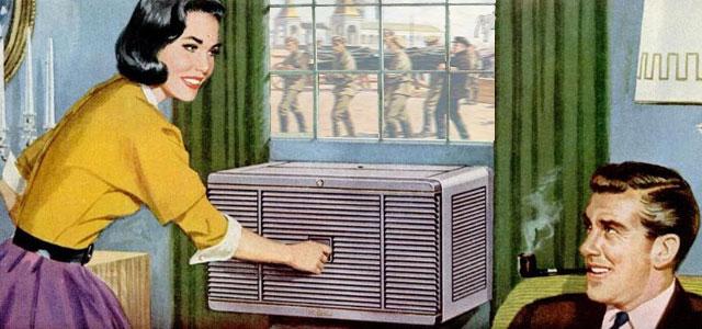 Реклама кондиционеров в 50-е.